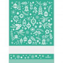 Straccio da ricamare - DMC - Fantasia natalizia - Verde