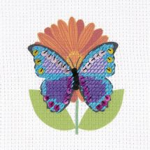 Kit punto croce per bambini con tamburo - DMC - La farfalla