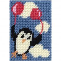 Kit di tela per bambini - DMC - Pinguino volante