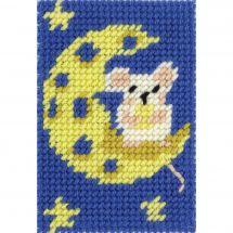 Kit di tela per bambini - DMC - Una luna di formaggio