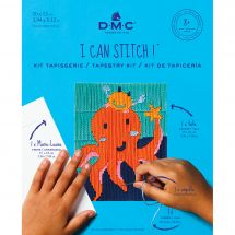 Kit di tela per bambini - DMC - Amelia il polpo