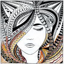 Tela predisegnata - Zenbroidery - donna