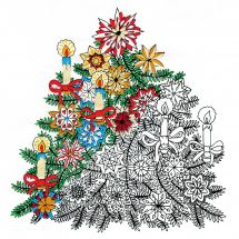 Tela predisegnata - Zenbroidery - Abete di natale