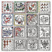 Tela predisegnata - Zenbroidery - I 12 giorni di Natale