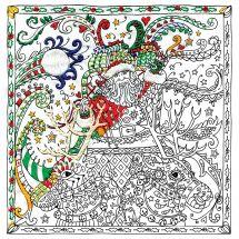 Tela predisegnata - Zenbroidery - Babbo natale