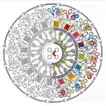 Tela predisegnata - Zenbroidery - Mandala cucire