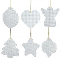 Porta-diamanti - Diamond Dotz Freestyle - Set di 6 soggetti natalizi per il ricamo a diamante