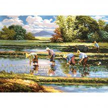 Canovaccio antico - Gobelin. L - La raccolta del riso