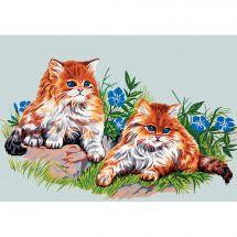 Canovaccio antico - Gobelin. L - Duo di gatti