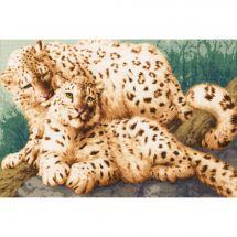 Kit Punto Croce - Toison d'or - Famiglia leopardo