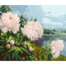 Kit Punto Croce - Toison d'or - Peonie in fiore
