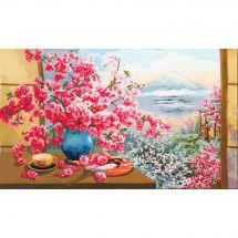 Kit Punto Croce - Toison d'or - Bouquet di fiori di ciliegio