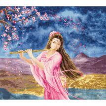 Kit Punto Croce - Toison d'or - Donna con un flauto