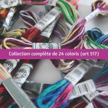 Filo per ricamo - DMC - Collezione Completa Colori - Art 517 -