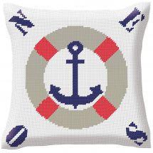 Kit cuscino fori grossi - Luc Créations - Cuscino da ricamare la marina