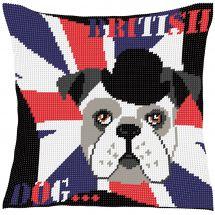 Kit cuscino fori grossi - Luc Créations - Cuscino da ricamare British dog