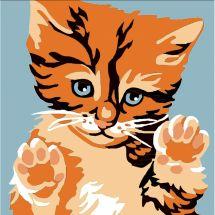 Kit di tela per bambini - Luc Créations - Il gatto