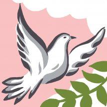 Kit di tela per bambini - Luc Créations - colomba