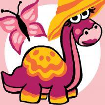 Kit di tela per bambini - Luc Créations - Dinosauro