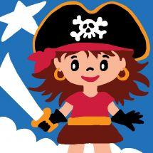 Kit di tela per bambini - Luc Créations - Pirata ragazza