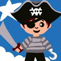 Kit di tela per bambini - Luc Créations - Pirata ragazzo