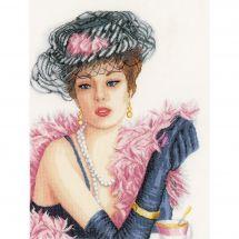 Kit Punto Croce - Lanarte - Donna elegante