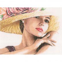 Kit Punto Croce - Lanarte - Donna al cappello