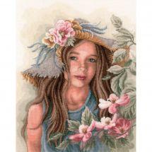 Kit Punto Croce - Lanarte - Piccola ragazza al cappello