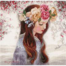 Kit Punto Croce - Lanarte - Il giorno in cui cadono i fiori