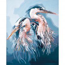 Kit di pittura per numero - Lanarte - Aironi blu