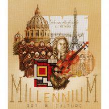 Kit Punto Croce - Lanarte - Millenium arti e cultura