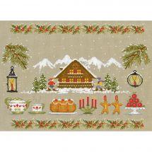Kit Punto Croce - Le Bonheur des Dames - bianco Natale