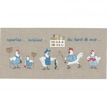 Kit Punto Croce - Le Bonheur des Dames - Cucina al mare