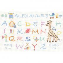 Kit Punto Croce - Le Bonheur des Dames - ABC Girafe blu