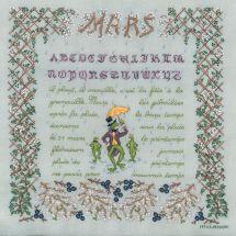 Kit Punto Croce - Le Bonheur des Dames - Mars