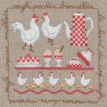 Kit Punto Croce - Le Bonheur des Dames - Le uova