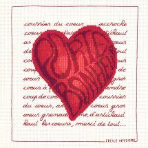 Kit Punto Croce - Le Bonheur des Dames - Cuore fortunato