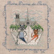 Kit Punto Croce - Le Bonheur des Dames - Passeggiata a Notre-Dame