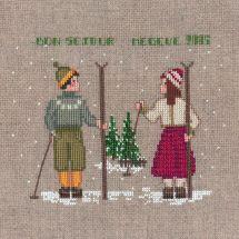 Kit Punto Croce - Le Bonheur des Dames - Due sciatori