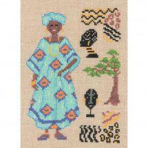 Kit Punto Croce - Le Bonheur des Dames - Africano in Turchese