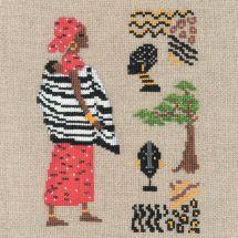 Kit Punto Croce - Le Bonheur des Dames - Africano in rosso