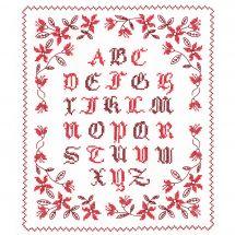Kit Punto Croce - Le Bonheur des Dames - Alfabeto rosso