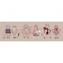 Kit di punti da ricamo - Le Bonheur des Dames - Fregio del gatto 2