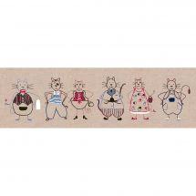 Kit di punti da ricamo - Le Bonheur des Dames - Fregio per gatti 1