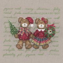 Kit Punto Croce - Le Bonheur des Dames - Coppia di orsi felici