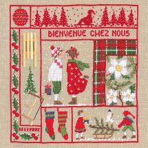 Kit Punto Croce - Le Bonheur des Dames - Benvenuti a dicembre