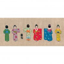 Kit di punti da ricamo - Le Bonheur des Dames - Kimonos