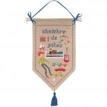 Kit per banner da ricamo - Le Bonheur des Dames - La camera di Jules