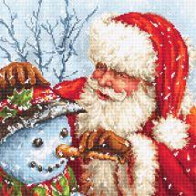Kit Punto Croce - Letistitch - Babbo Natale e pupazzo di neve