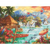 Kit Punto Croce - Letistitch - La vita sull'isola